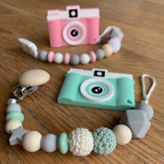 Attache-lolette personnalisé et accessoires en perles